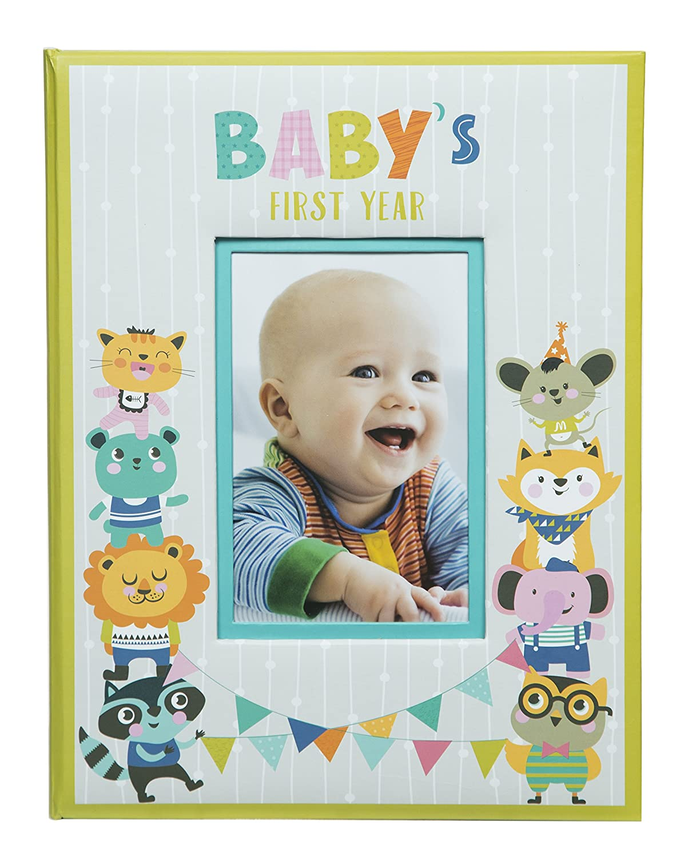 2d3df83c76f83 Pinnacle Frames   Accents 赤ちゃん用 1年生ハードカバー マイルストーン メモリーブック ジャーナル レザー