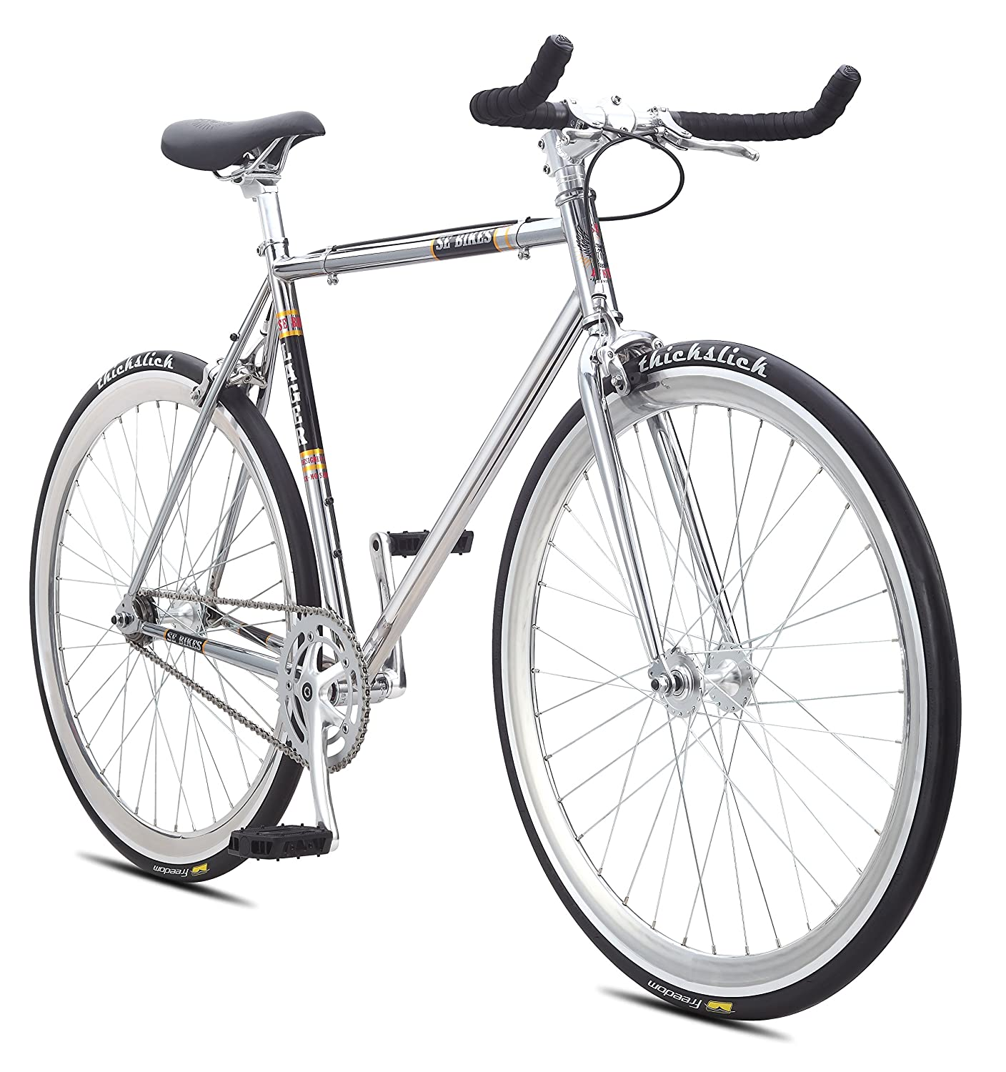 Amazon.com : SE Bicycles Larger Single Speed Bicycles, Chrome, 52cm ...
