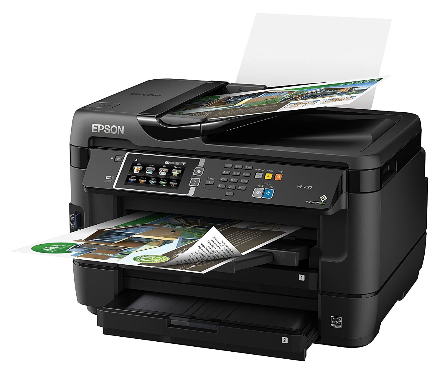 Color printouts in hyderabad - Amazon Com Epson Workforce Wf 7620 Wireless Color All In One Inkjet Printer With Scanner And Copier Electronics