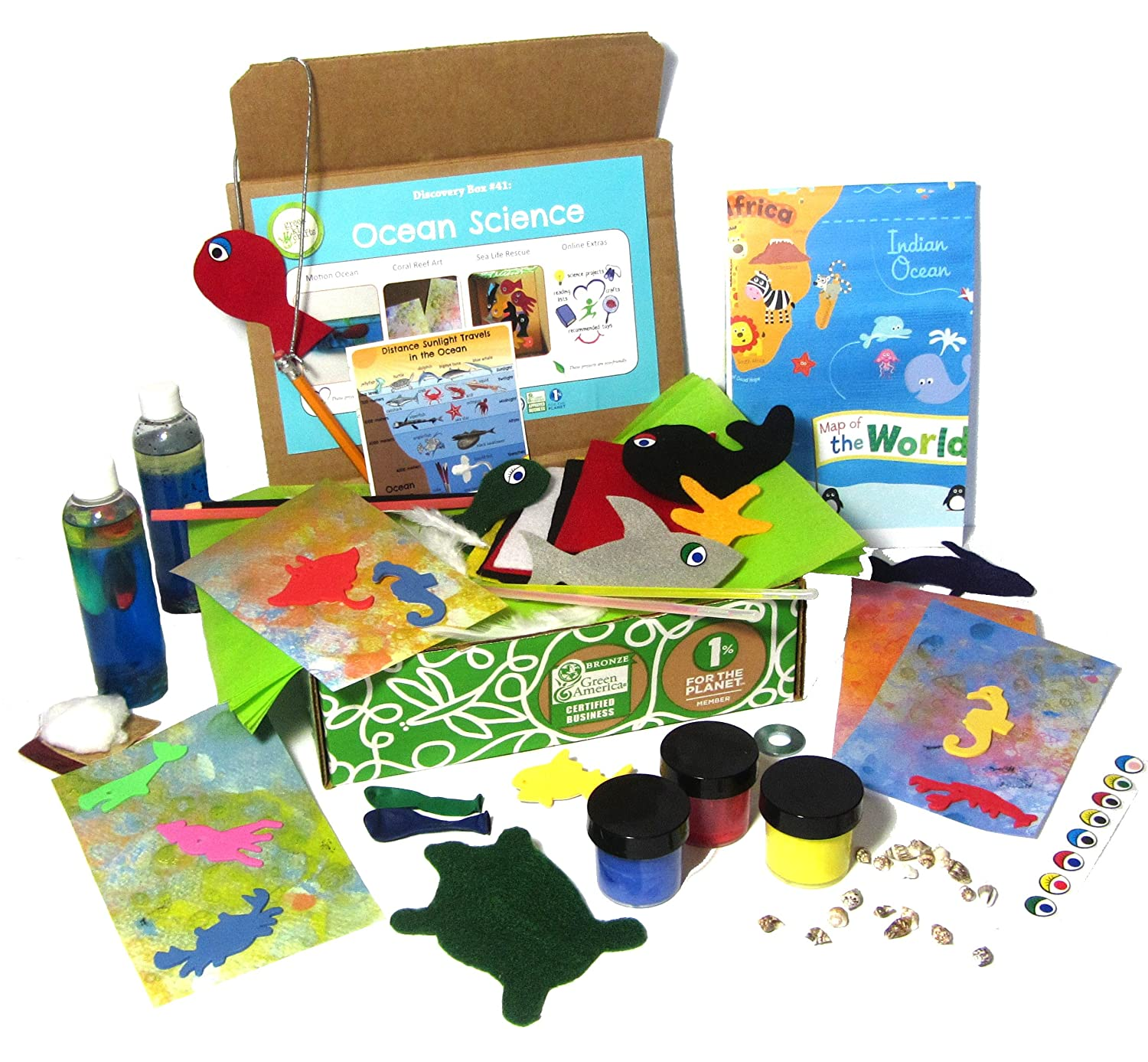 Amazon Green Kid Crafts Ocean Science Discovery Box Toys