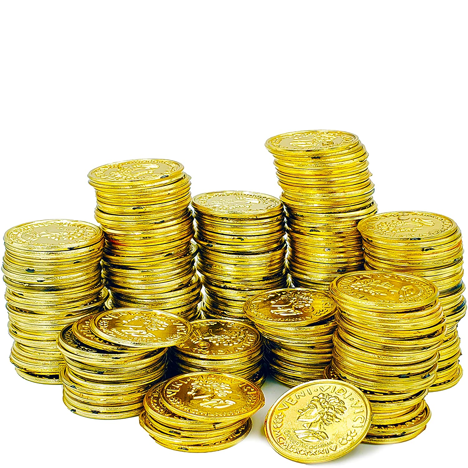 Money & Banking Patricks Plastic Gold Coins Novelty Party Favors ...