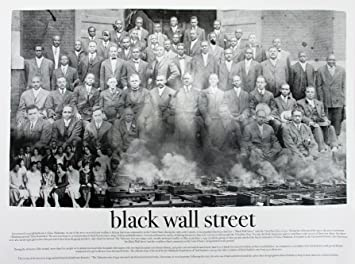 Black Wall Street Poster Black U0026 White Art Print African American Black  History (18x24)