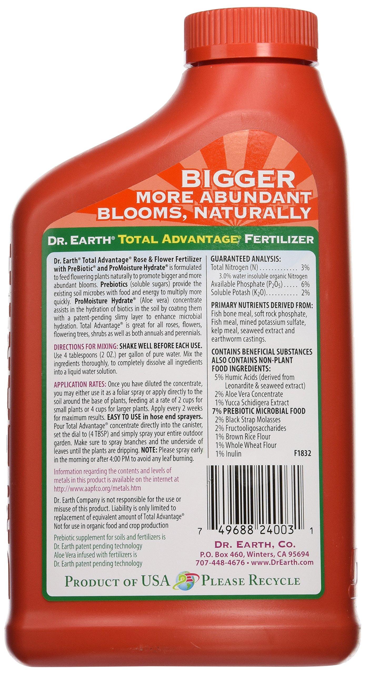 Dr. Earth Total Advantage Rose & Flower Concentrate Fertilizer, 24 oz