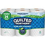 Quilted Northern Ultra Soft & Strong Earth-Friendly Toilet Paper, Bath Tissue Rolls, Double Rolls, 12 Count of 164 Sheets Per