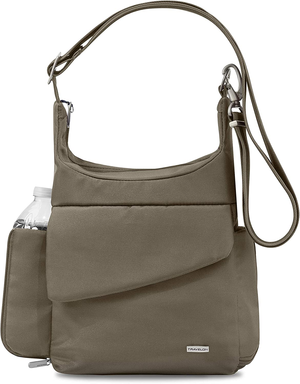 Travelon Anti-Theft Classic Messenger Bag, Nutmeg