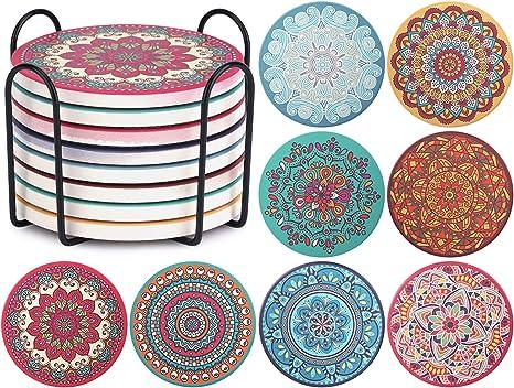 Mandala Ceramic Coasters