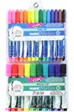Tulip Permanent Nontoxic Fabric Markers 25 Pack - Fine & Large Bullet Tip, Child Safe, Minimal Bleed & Fast Drying - Premium Quality for T-shirts, Clothes, Shoes, Bags & Other Fabric Materials