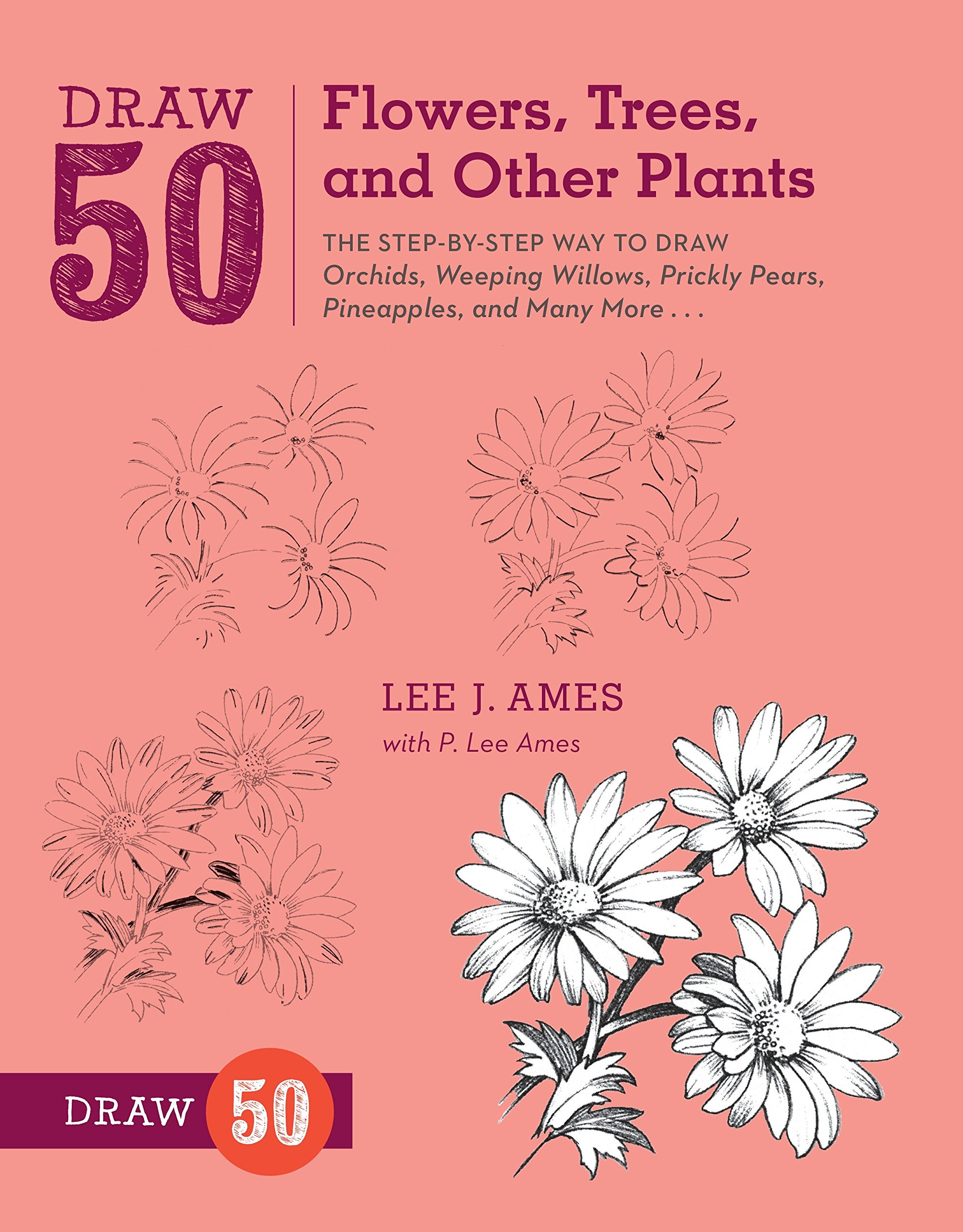 Draw 50 Flowers Trees And Other Plants The Step By Step Way To