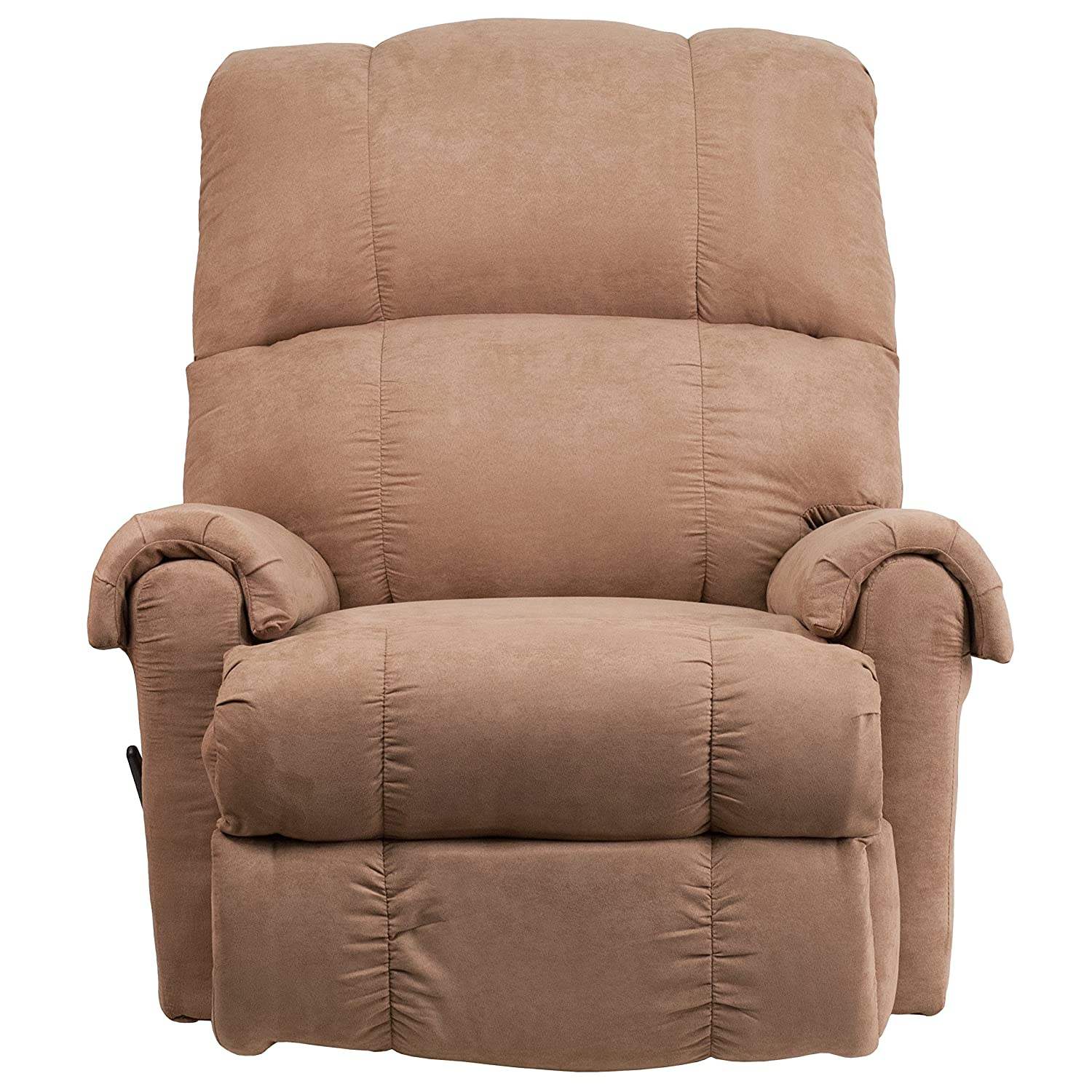 Amazon.com: Flash Furniture Contemporary Victory Lane Taupe Fabric Rocker  Recliner: Kitchen U0026 Dining