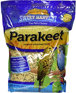 product image for Sweet Harvest Parakeet Bird Food, 4 lbs Bag - Seed Mix for Parakeets
