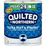 Quilted Northern Ultra Soft and Strong Earth-Friendly Toilet Paper, 6 Mega Rolls = 24 Regular Rolls, 328 2-Ply Sheets…