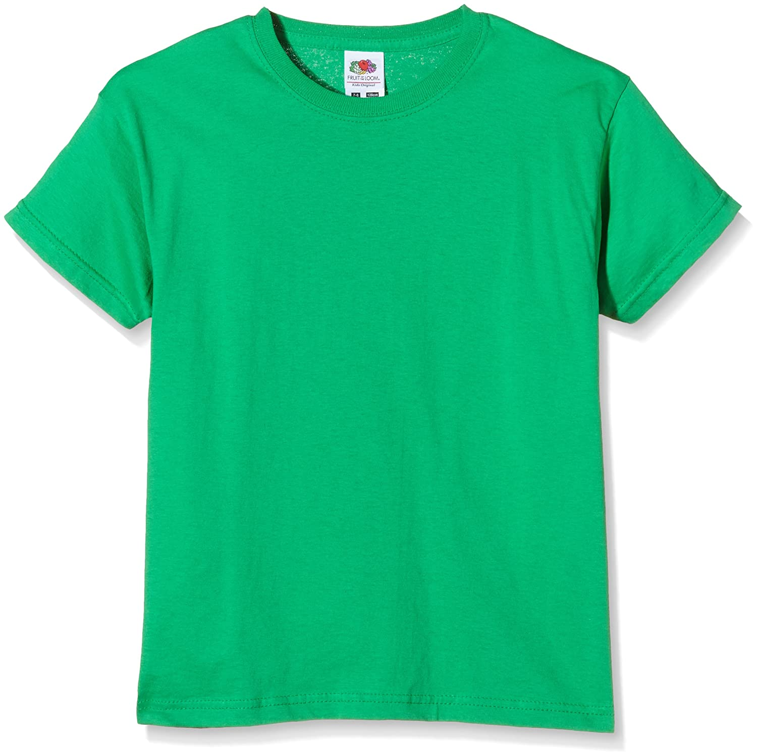 Fruit of the Loom Unisex Kids Original T T-Shirt Kelly Green Manufacturer Size:30 7-8 Years