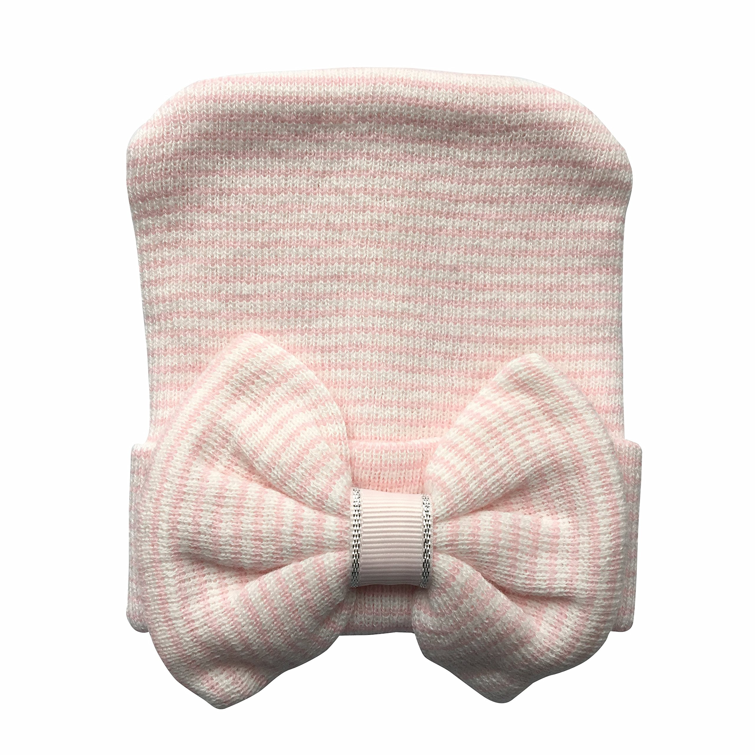 Mama's Loves Baby Hat (Pink and White)