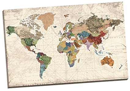 Amazon portfolio canvas decor world map of maps by studio portfolio canvas decor world map of maps by studio voltaire wrapped and stretched canvas gumiabroncs Image collections