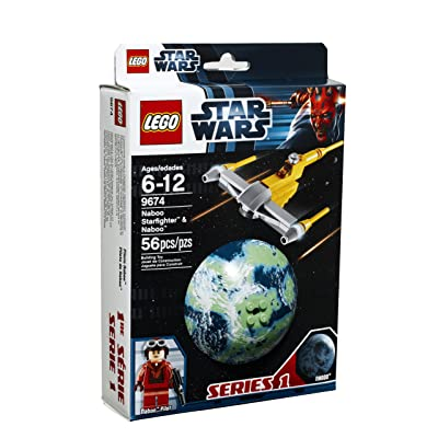 LEGO Star Wars Naboo Starfighter and Naboo 9674: Toys & Games
