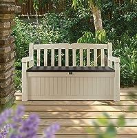 KeterEden Outdoor Resin All Weather Plastic Seating u0026 Storage Bench & Amazon Best Sellers: Best Outdoor Storage Benches
