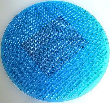 Cenni 12575 Teppich Mit Kupfer, Rund, Blau, Made In Italy