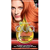 Garnier Olia Bold Ammonia Free Permanent Hair Color (Packaging May Vary), 7.45 Intense Fire Ruby, Red Hair Dye, Pack of…
