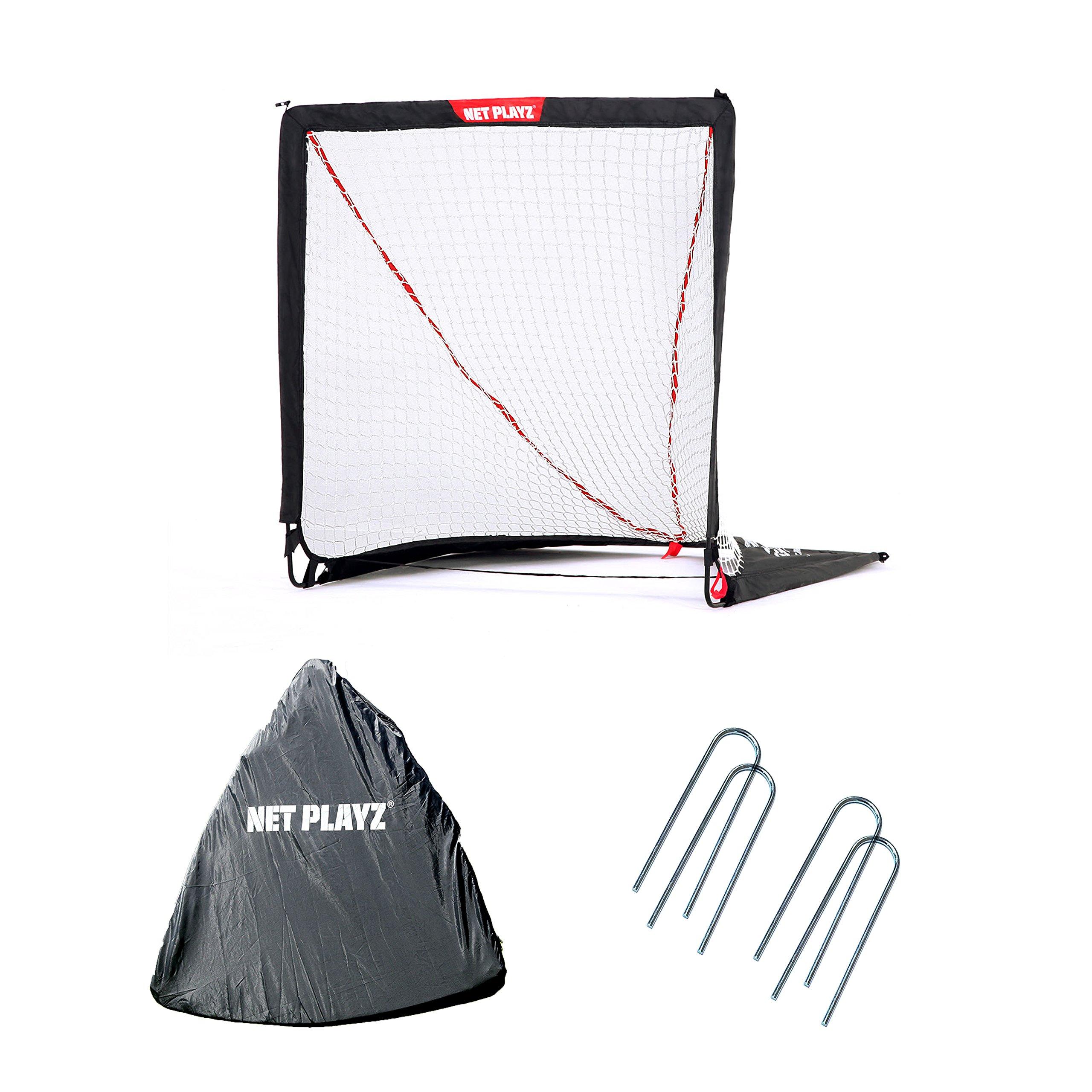 NET PLAYZ 4 x 4 x 4 Feet Lacrosse Goal Fast Install, Fiberglass Frme, Lightweight, Foldable, Portable, Carry bag Included by NET PLAYZ (Image #4)