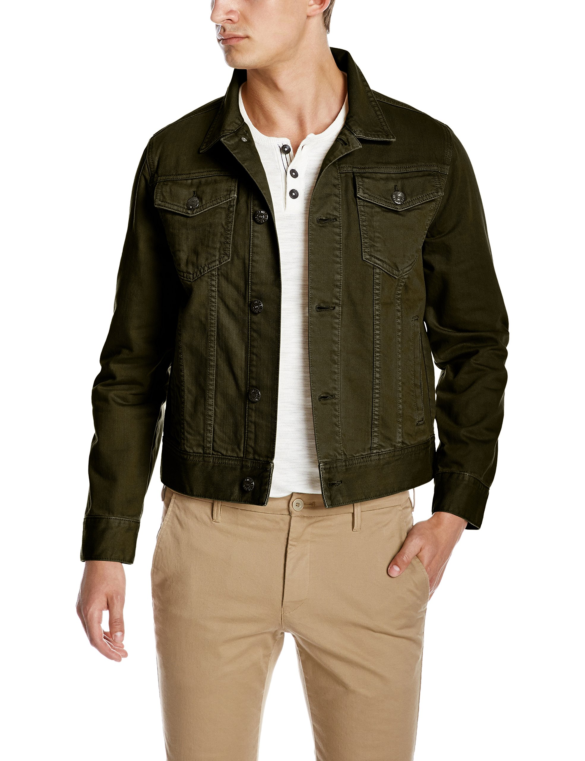 Quality Durables Co. Men's Regular Fit Jean Jacket 2XL Olive by Quality Durables Co.