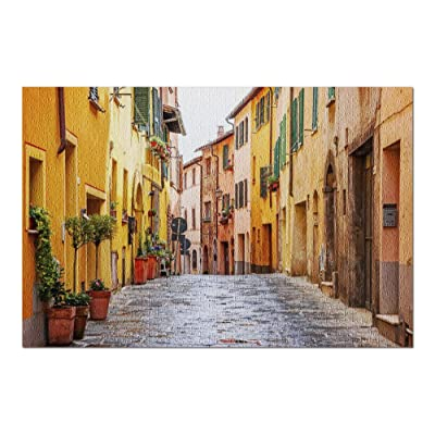 Tuscany, Italy - Beautiful Alley in Old Town Montepulciano 9003169 (Premium 1000 Piece Jigsaw Puzzle for Adults, 20x30, Made in USA!): Toys & Games