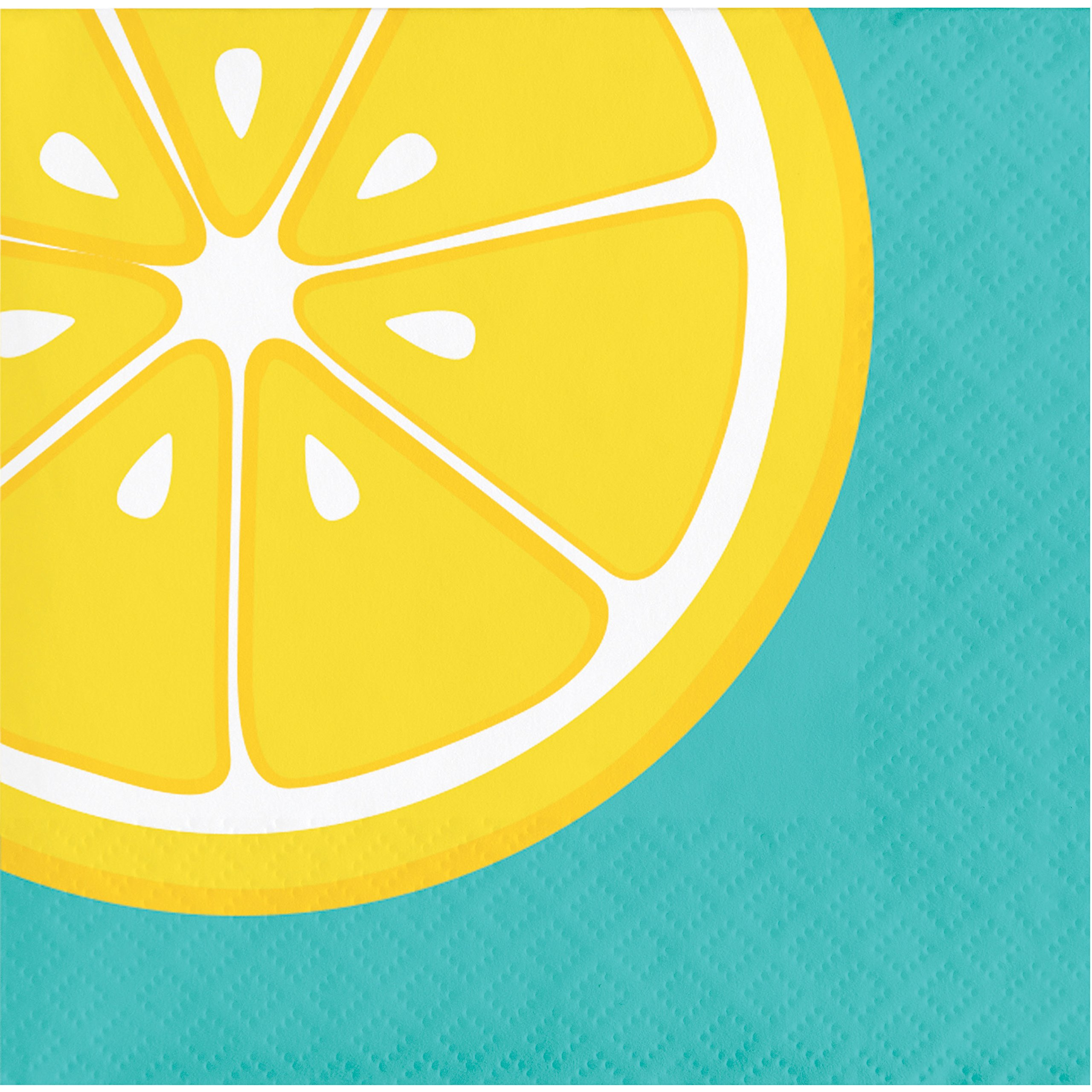 Summer Squeeze Lemonade Beverage Napkins, 48 ct by Creative Converting (Image #1)