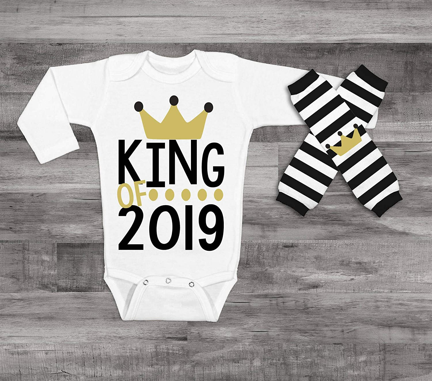4c4b68c34d081 Amazon.com: King of 2019, New Years Bodysuit, 2019 New Year Shirt, New Year  Celebration Shirt, New Years Eve Outfit, Baby Boy New years shirt: Handmade