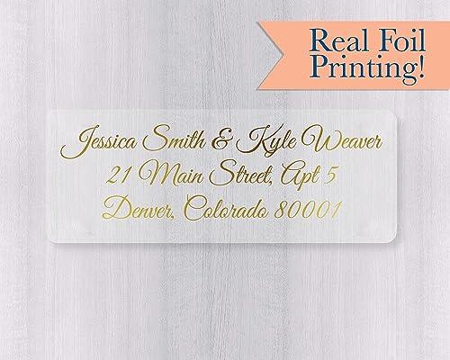 Amazon Com 60ct Gold Or Color Foil Wedding Invitation Return