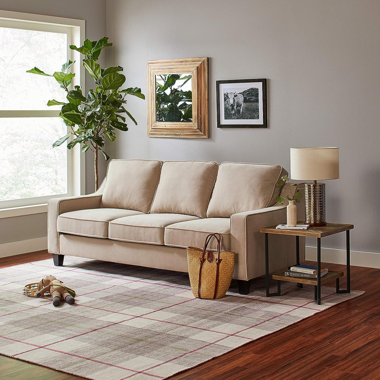 Stone /& Beam Bernice Industrial Wood Side Table 20W Natural//Black 20W NINGBO ART KFL00118-1