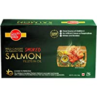 Golden Prize Wild Alaskan Smoked Pink Salmon Fillet in Oil, 115g