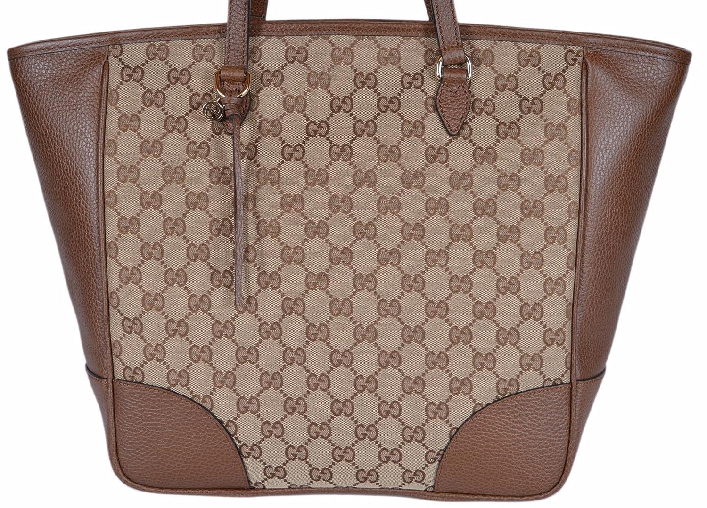 d9c264aa0 Gucci Women's Large Canvas Leather Bree GG Guccissima Handbag Tote (Beige/Brown  449242): Amazon.ca: Shoes & Handbags