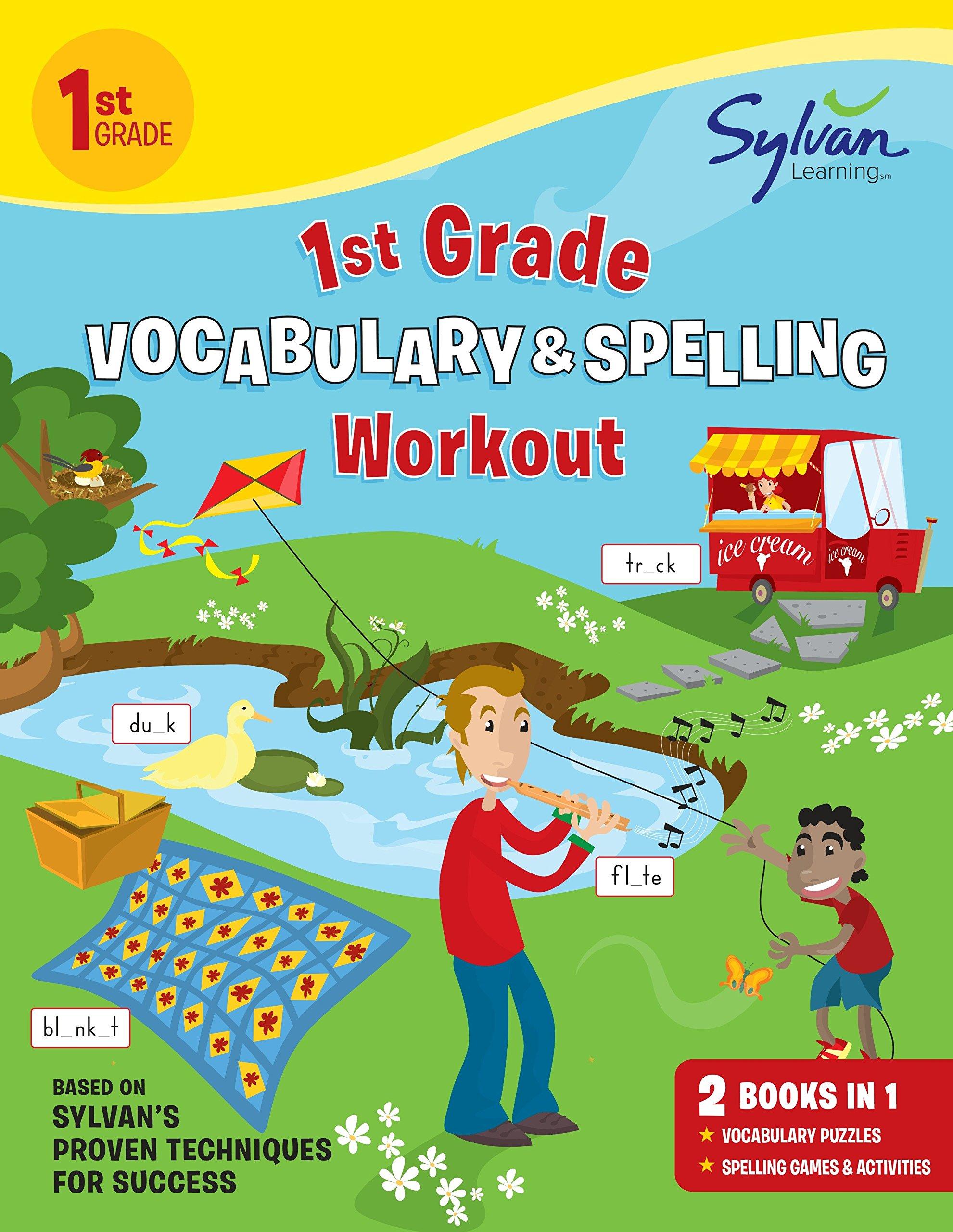 1st Grade Vocabulary & Spelling Workout (Sylvan Beginner Workbook ...