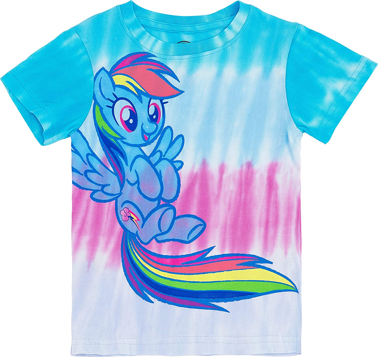 My Little Pony Girls Tie Dye Graphic T-Shirt - Rainbow Dash, Pinkie Pie, Twilight Sparkle, Apple Jack, Sizes 4-6X