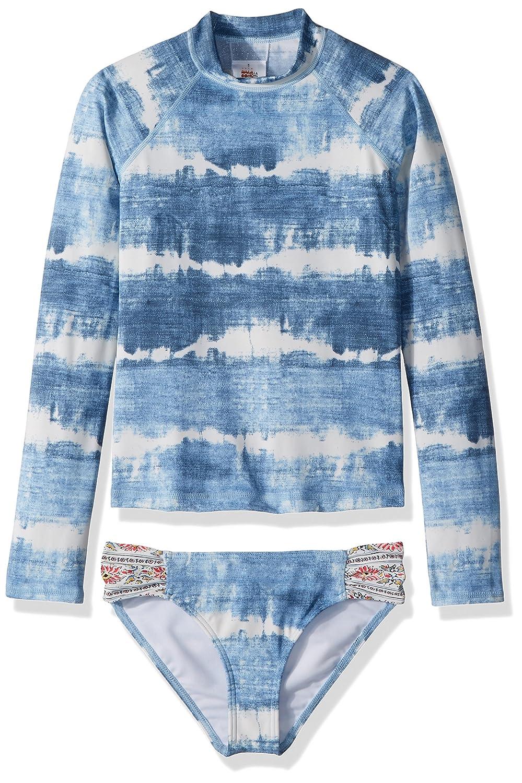 Billabong Girls' Lil Bliss Long Sleeve Rashguard Swimsuit Set Y213NBLI