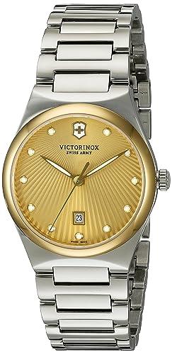 Victorinox Womens Victoria Swiss Quartz Stainless Steel Casual Watch Model 241637