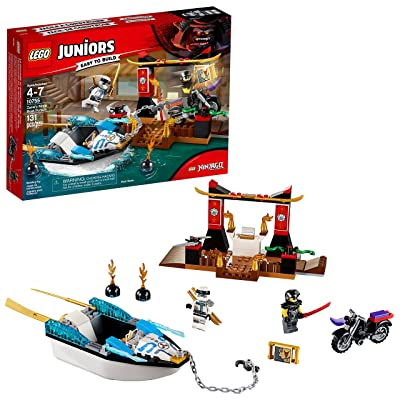 LEGO Juniors/4+ Zane's Ninja Boat Pursuit 10755 Building Kit (131 Piece): Toys & Games