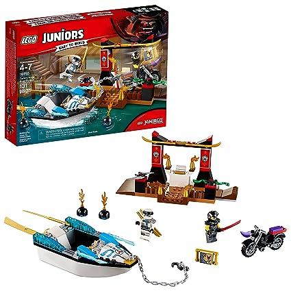 Amazon.com: LEGO Juniors/4+ Zanes Ninja Boat Pursuit 10755 ...