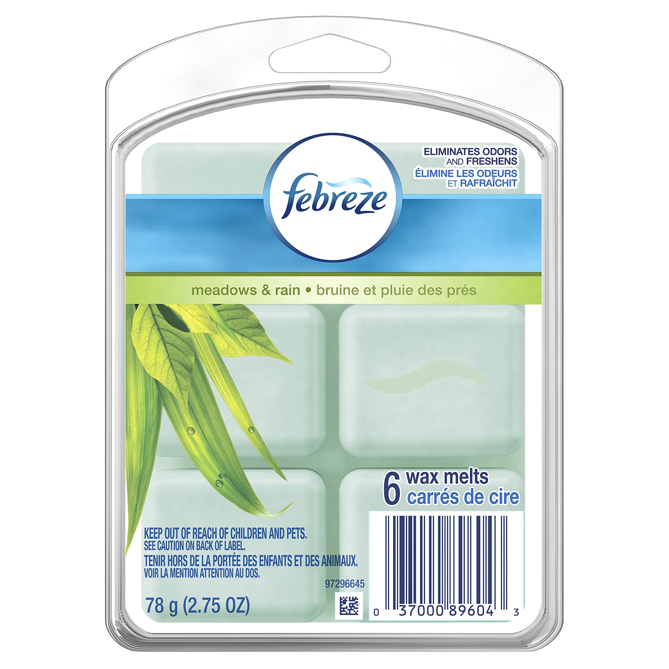 Febreze Wax Melts Air Freshener, Meadows & Rain (Pack of 8)