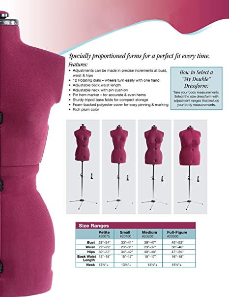 Amazon.com: Dritz My Double Dress Form, Petite: Arts, Crafts & Sewing