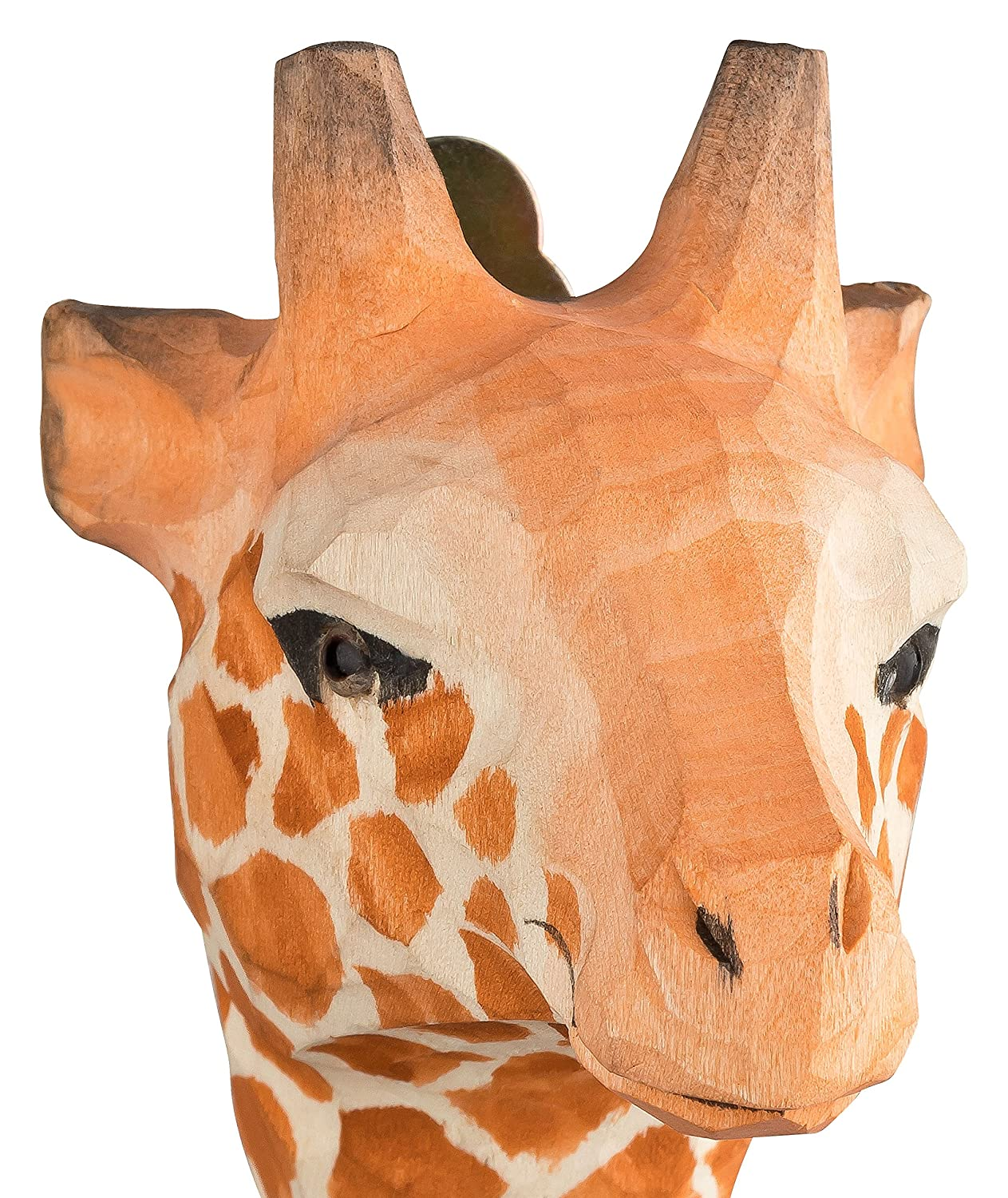 Your Castle 2 Wall Hooks, Clothes and Coat Hooks Made of Wood, Giraffe and Panda, Handmade with Metal Hooks, Size: 4.72 in.