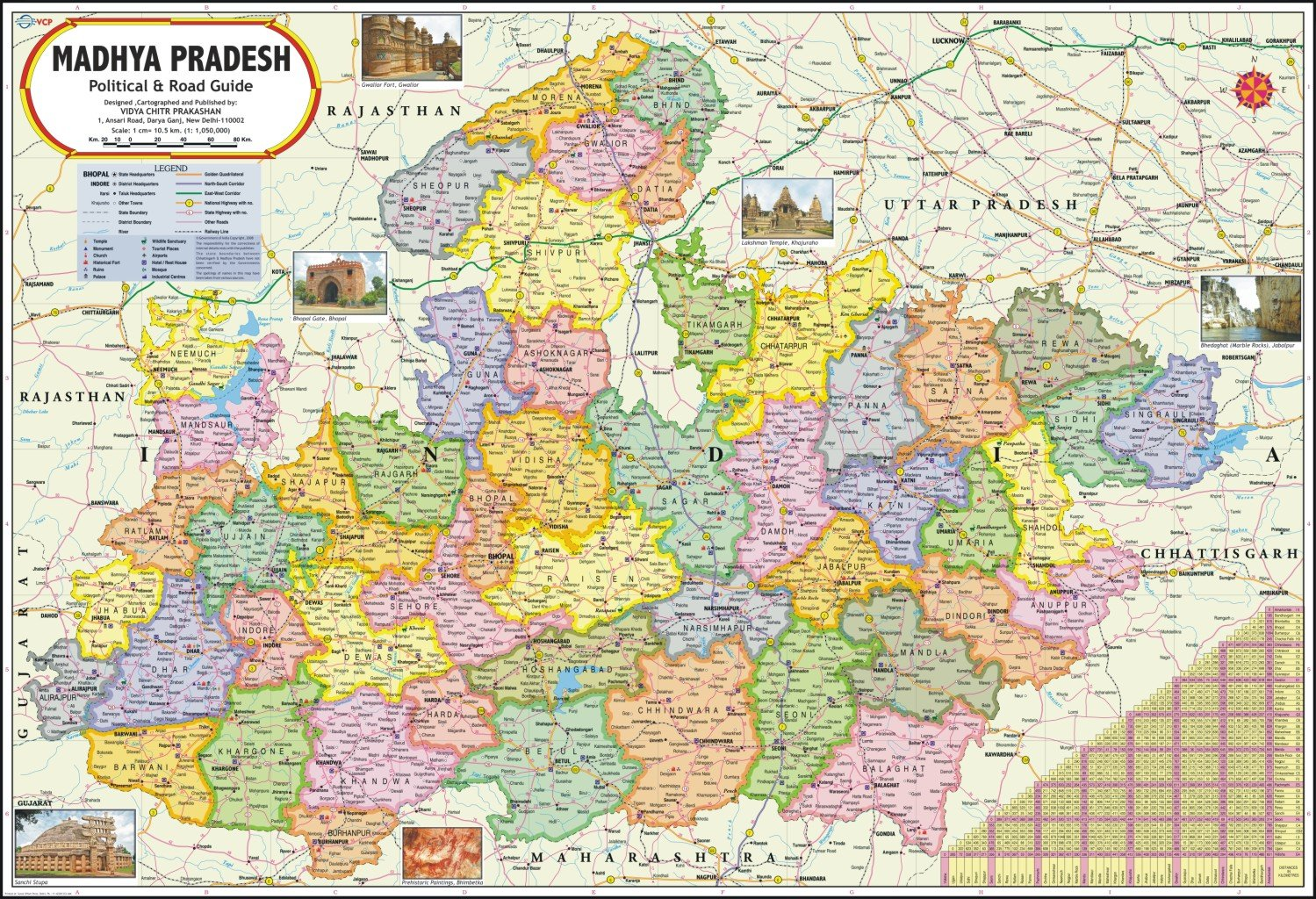 Buy Madhya Pradesh Map Book Online at