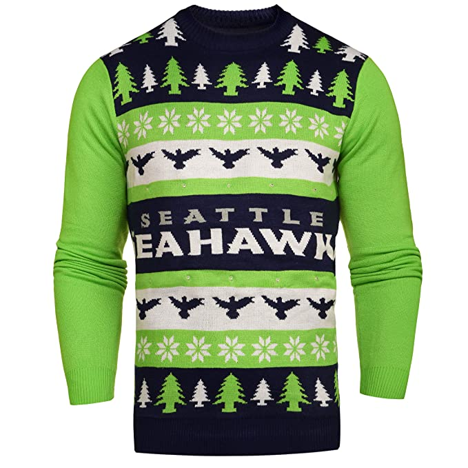 new styles 2495b c9f08 FOCO NFL Unisex One Too Many Light Up Sweater