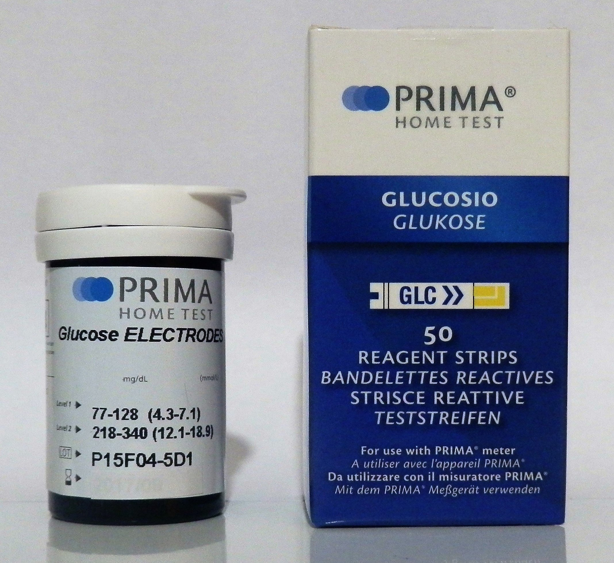 PRIMA GLUCOSE TEST STRIPS(50PCS./VIAL)