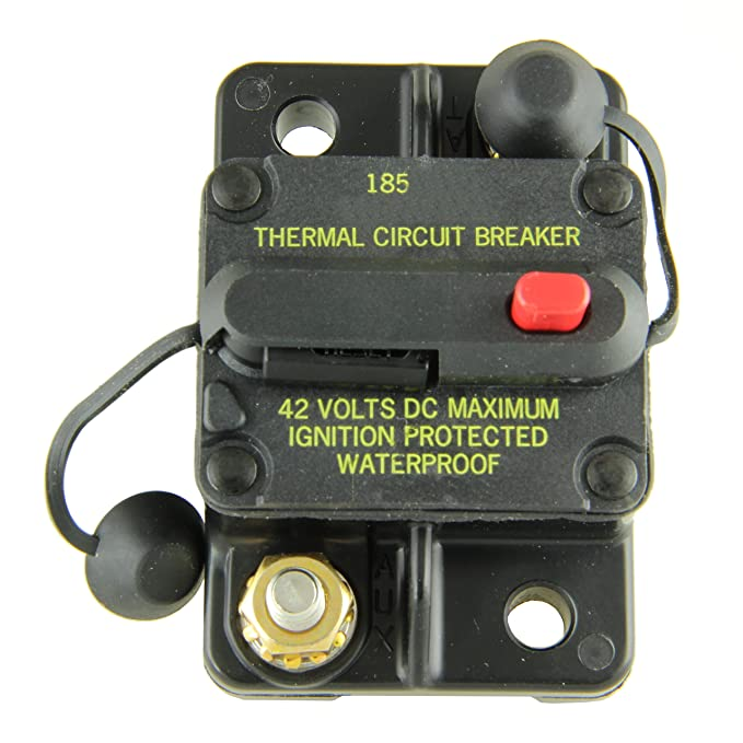 Bussmann CB185-40 40 Type Iii Flush Mount Switchable/Manual High Amp Circuit Breaker, 30Vdc, One Per Box (1-Pack)