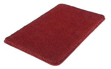 Badteppich Kleine Wolke Relax Rubin 85x150 cm Rot Badematte