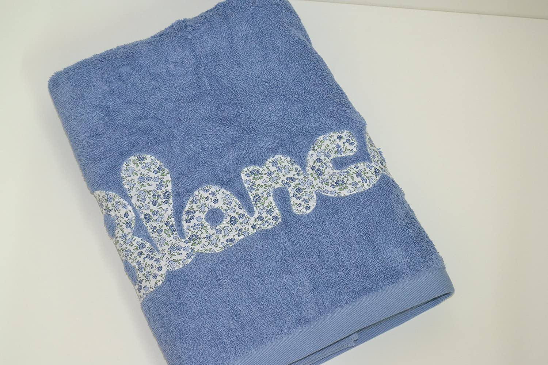 Toalla personalizada con nombre 100% algodón (Rosa Bebé): Amazon.es: Hogar