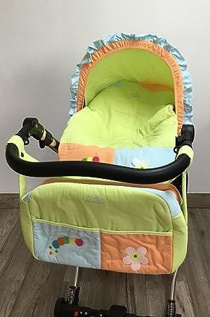 Funda para Grupo 0 universal para bebés + Capota + Bolso gusano verde. Funda portabebés