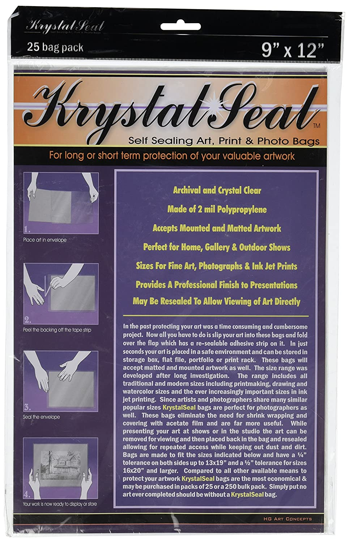 Creative Mark Krystal Seal Self-Healing Art, Print and Photo Bags, 9 x 12 Inches (ANKS0912) by Creative Mark   B0049UZAV6