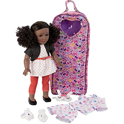 "Playtime by Eimmie 18"" Doll for Girls - 18 Inch Doll with Pajamas and Carrying Case - Doll Clothes and Accessories - Kaylie: Toys & Games"