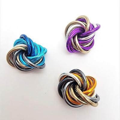 3 Pack: Möbii Custom Color, Small: Stim Restless Hand Toy, Stress Ball Office Toy